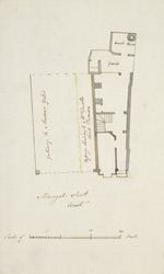 [Plan of a property adjoining the Masons Yard on Aldersgate Street]